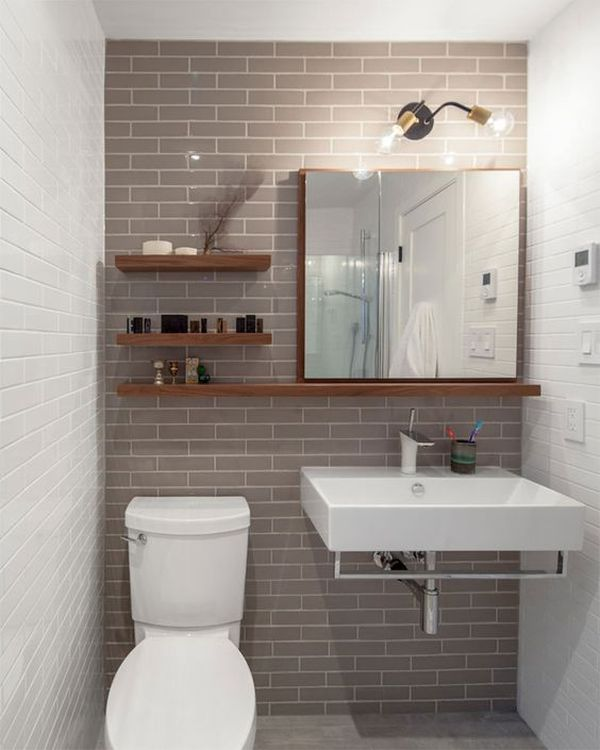 #474592 15 Modelos de Decoração de Banheiro Pequeno e SimplesSó Decor 600x750 px decoração para banheiros pequenos e simples