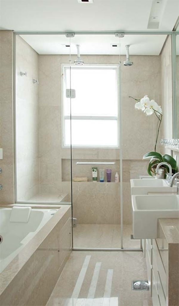 #474812 15 Modelos de Decoração de Banheiro Pequeno e SimplesSó Decor 600x1028 px modelo de banheiro simples e pequeno