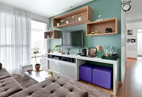 sala pequena de TV