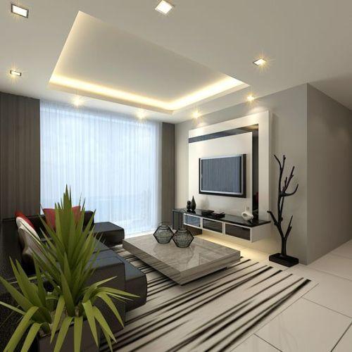 Decoração moderna para sala pequena