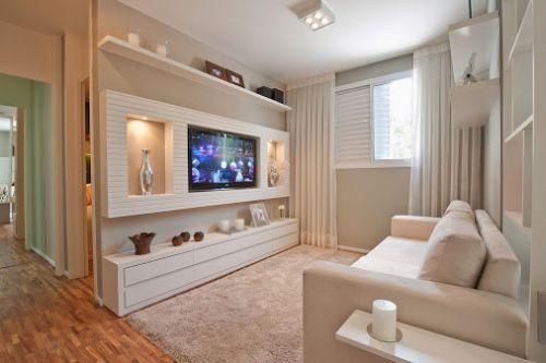 Sala pequena com decoração minimalista