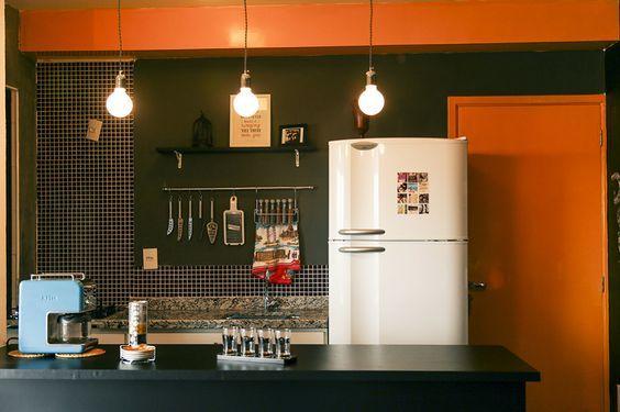 Decoração de Cozinha Americana Pequena e Simples Fotos