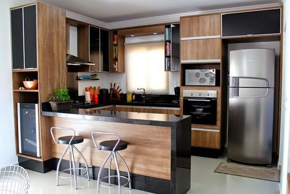 Decora o de cozinha americana pequena e simples fotoss for Americana cuisine