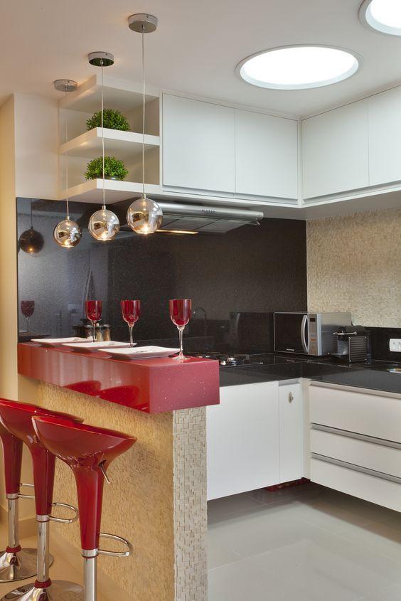 Decoração de Cozinha Americana Pequena e Simples: FotosSó Decor