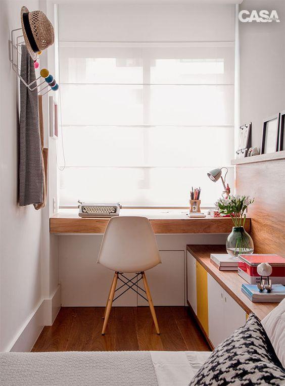 Decoraç u00e3o de Escritório em Apartamento Pequeno FotosSó Decor -> Decoração Simples Para Escritório Pequeno