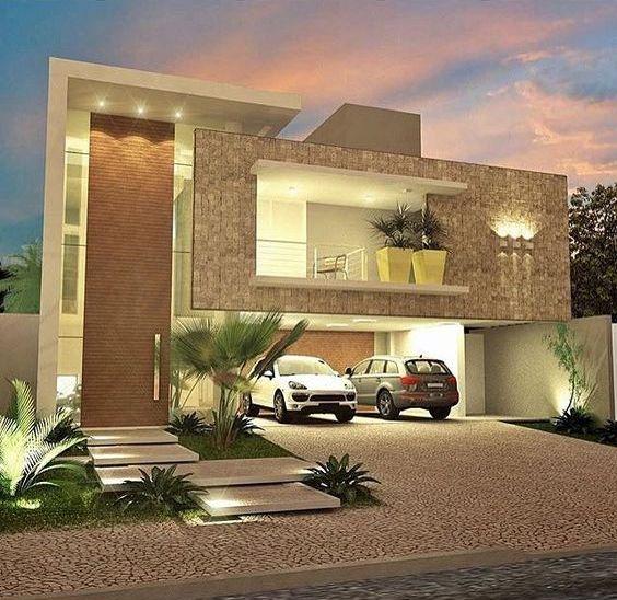 Decora o de fachadas de casas com pedras fotoss decor for Progetto casa moderna