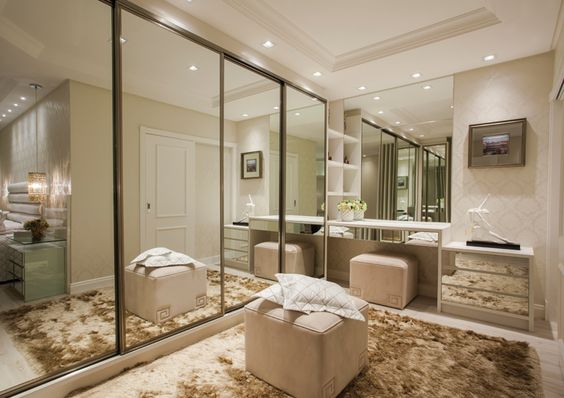 Quarto De Casal Com Suite E Closet ~ Decora??o de Quarto de Casal com Closet e Banheiro FotosS? Decor