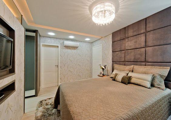 Quartos de Casal Decorados com Closet e Banheiro