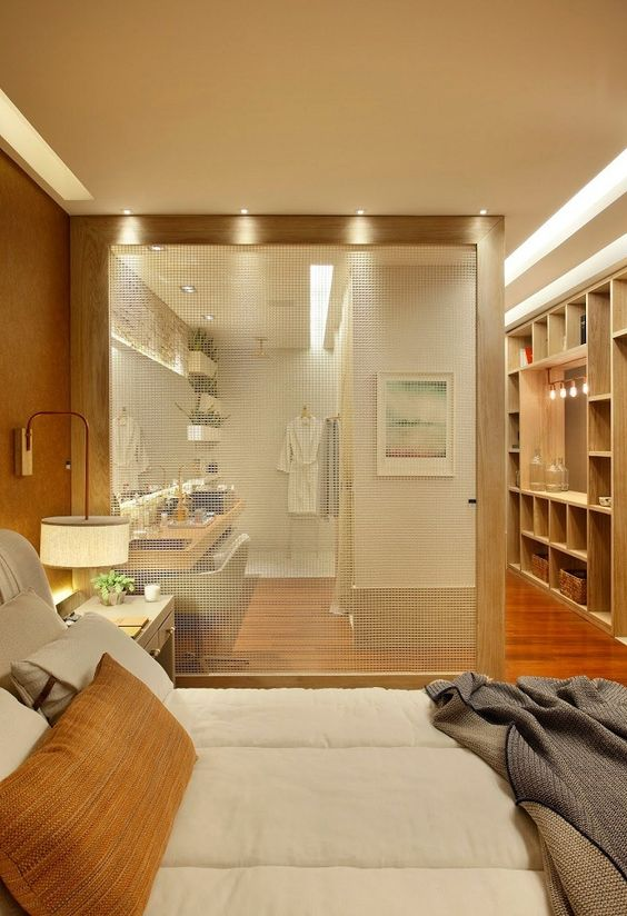 Decoração de Quarto de Casal com Closet e Banheiro FotosSó Decor -> Banheiro Decorado De Casal