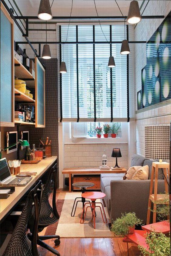 decoração de salas pequenas e estreitas deve ser bem especial