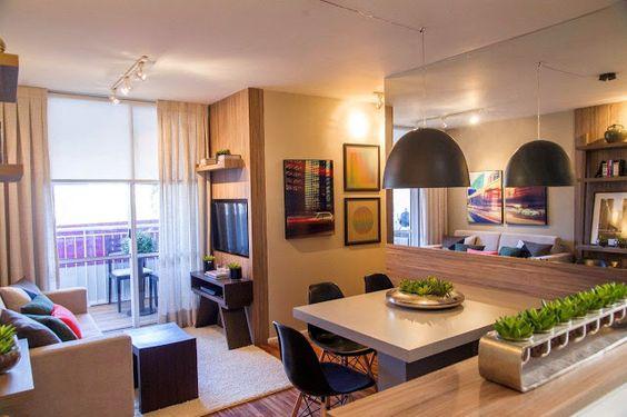 Salas de Estar e Jantar Modernas