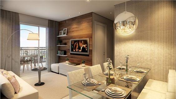 Decora o de salas de estar e jantar modernas modelos for Sala de estar blanca