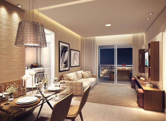 Decora o de salas de estar e jantar modernas modelos for Sala de estar rustica y moderna