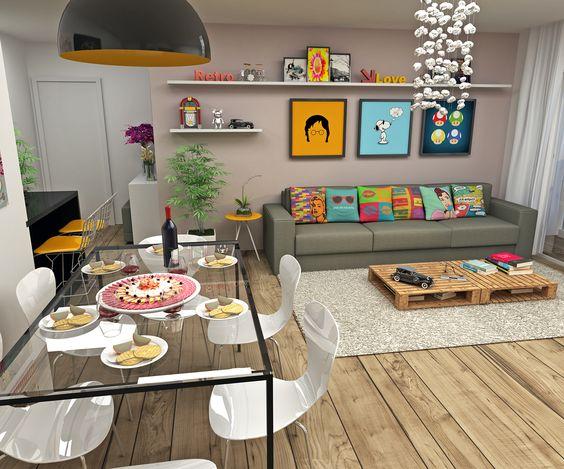 decoracao de ambientes pequenos e integrados : decoracao de ambientes pequenos e integrados:Projetos de Decoração de Interiores de Apartamentos Pequenos: Fotos