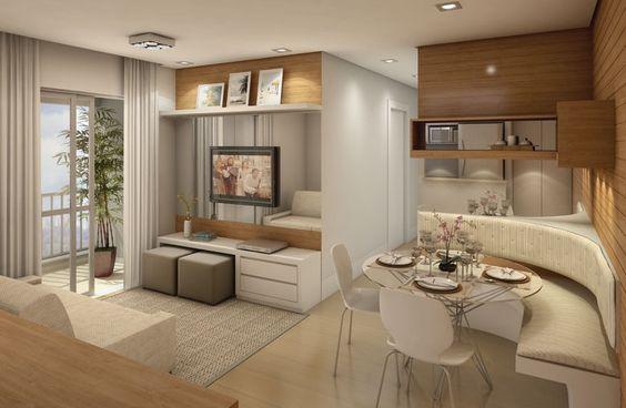 decoracao de interiores muito pequenos:Projetos de Decoração de Interiores de Apartamentos Pequenos: Fotos