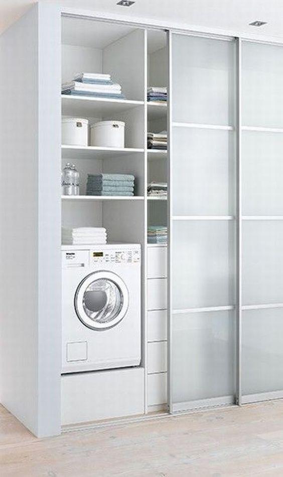 decoracao cozinha e area de servico integradas:Área de serviço integrada com cozinha pequena com muro de tijolos