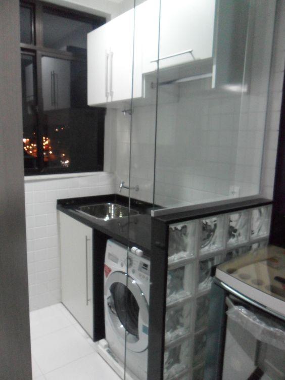 decoracao cozinha e area de servico integradas: na decoração de área de serviço integrada com cozinha pequena