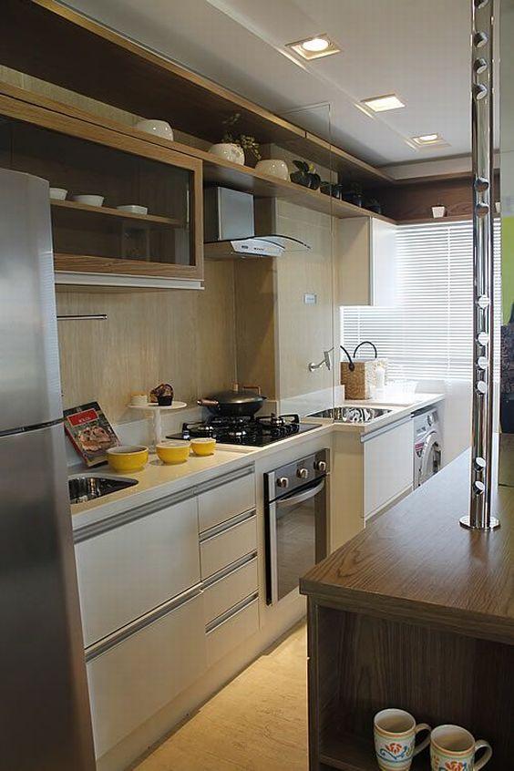 Área de Serviço Integrada com Cozinha Pequena