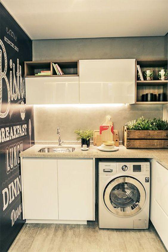 decoracao cozinha e area de servico integradas:Decoração clássica para área de serviço integrada com cozinha.