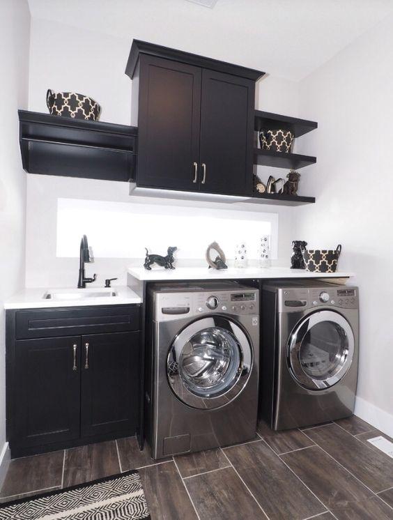 decoracao cozinha e area de servico integradas:Área de Serviço Integrada com Cozinha Pequena: FotosSó Decor