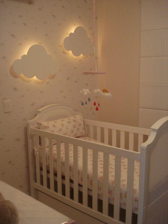 Decoração de Quarto de Bebê com Papel de Parede FotosSó Decor