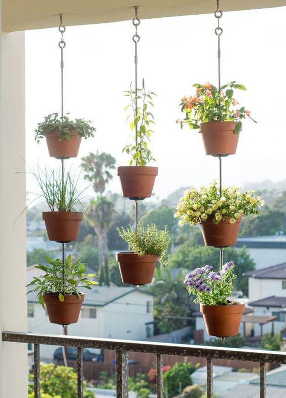 Decoraç u00e3o de Varandas Pequenas com Plantas FotosSó Decor # Decoração De Varanda Com Vasos De Plantas