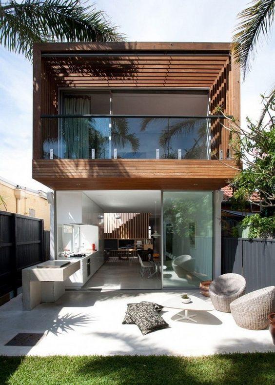 Fachadas de casas duplex com telhado embutido fotos - Fotos de duplex ...