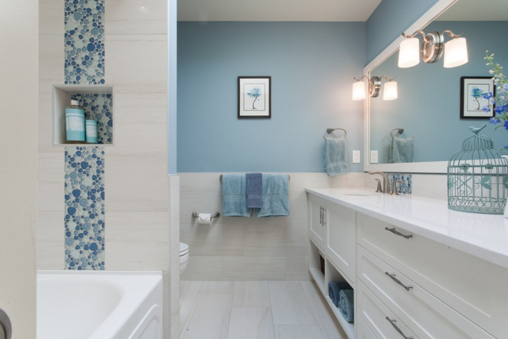 revestimentos para banheiro branco e azul