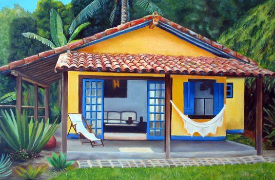 60 pinturas de casas por fora e por dentros decor - Casas de pinturas ...
