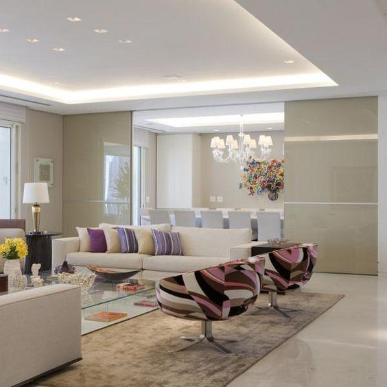 Decoracao De Sala Imagem ~ Fotos de Sancas de Gesso para Salas # decoracao de sala dois ambientes