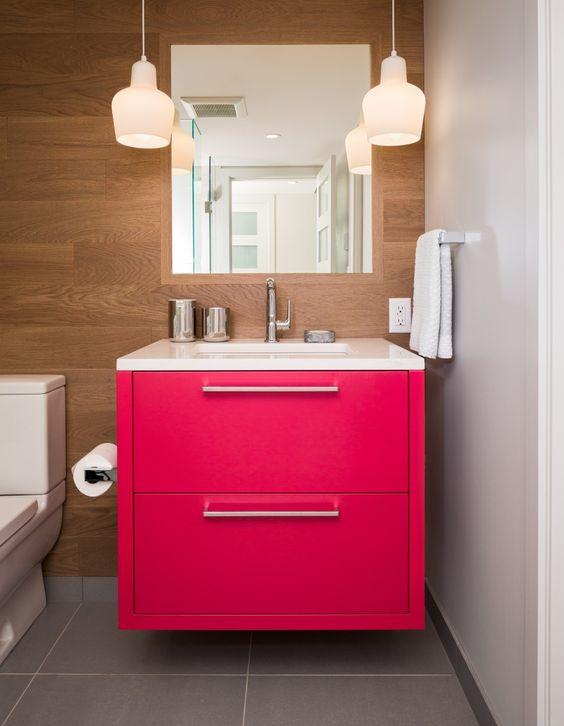 Decoração de Banheiros Simples e Bonitos 20 FotosSó Decor -> Decoracao De Banheiros Simples Com Fotos