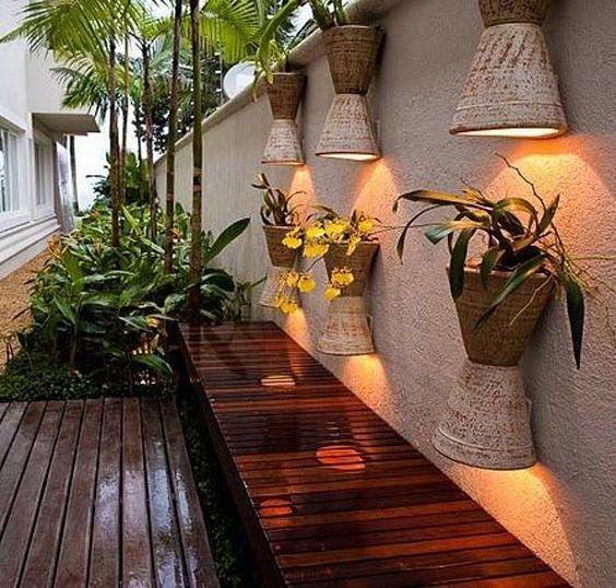 decoração externa em muros
