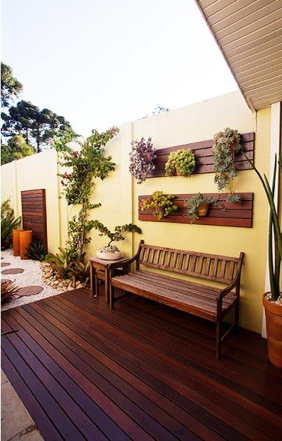 como decorar o muro com plantas