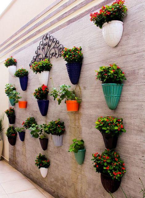 decoração de frente de muro
