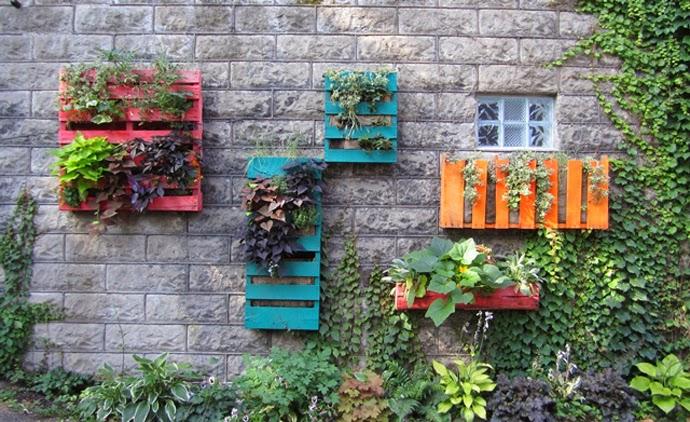 muros externos decorados