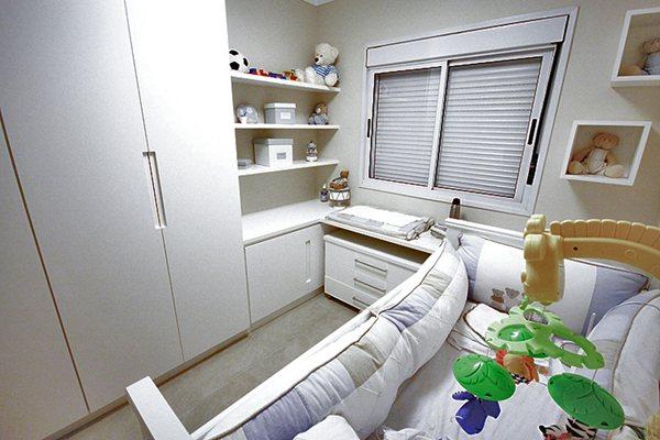 Quarto de Bebê Planejado para Apartamento Pequeno 25  ~ Quarto Planejado Infantil Pequeno