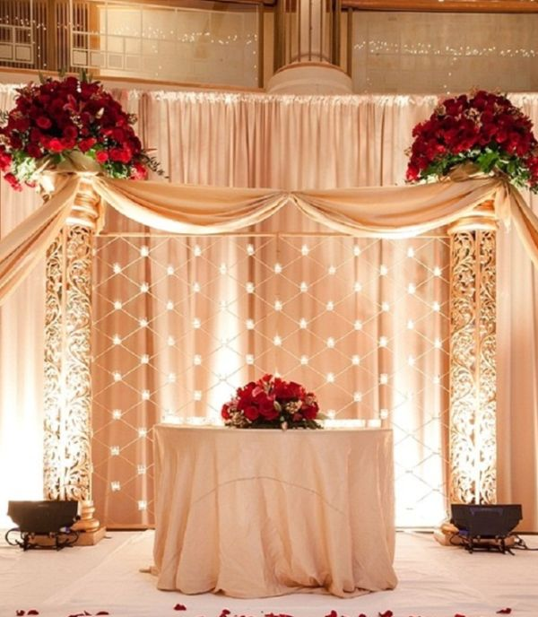 Decoraç u00e3o de Casamento Vermelho e Branco SimplesSó Decor # Decoração De Casamento Simples Vermelho E Branco