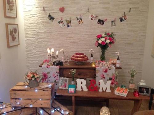 fotos de decoração de noivado simples e barato