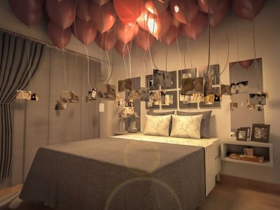 Decoração de quarto para Dia dos Namorados