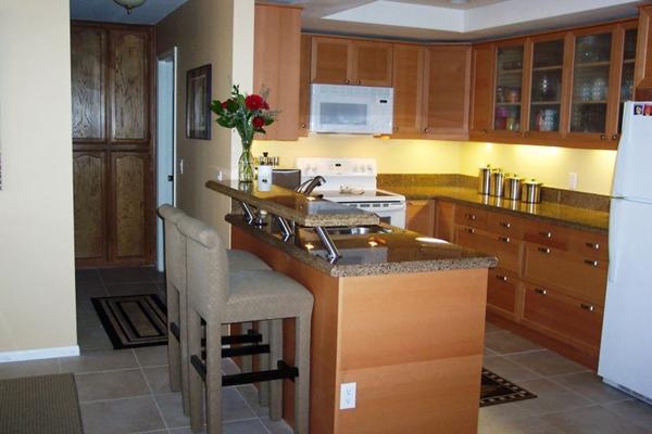 cozinha integrada estreita