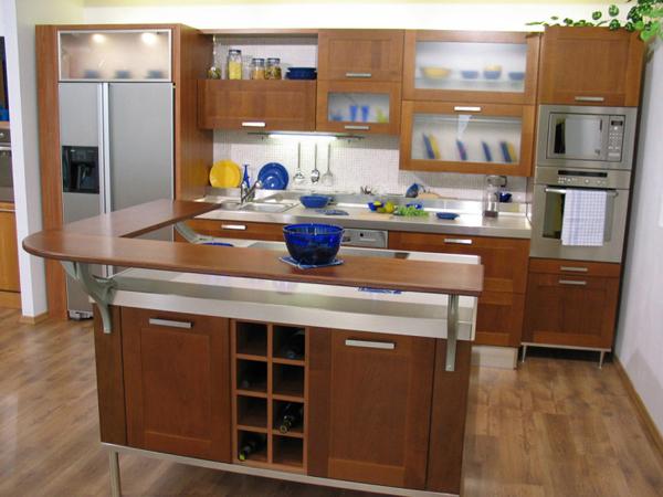 cozinha integrada com balcão moderno