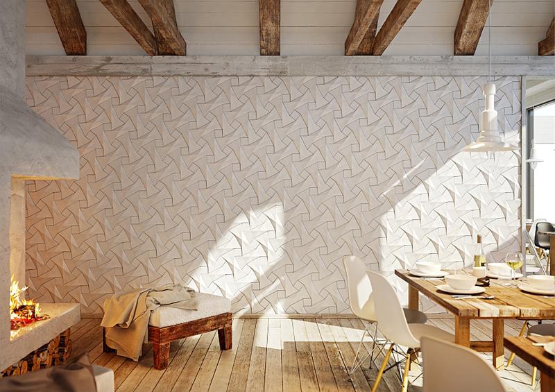 azulejos com alto-relevo na cozinha