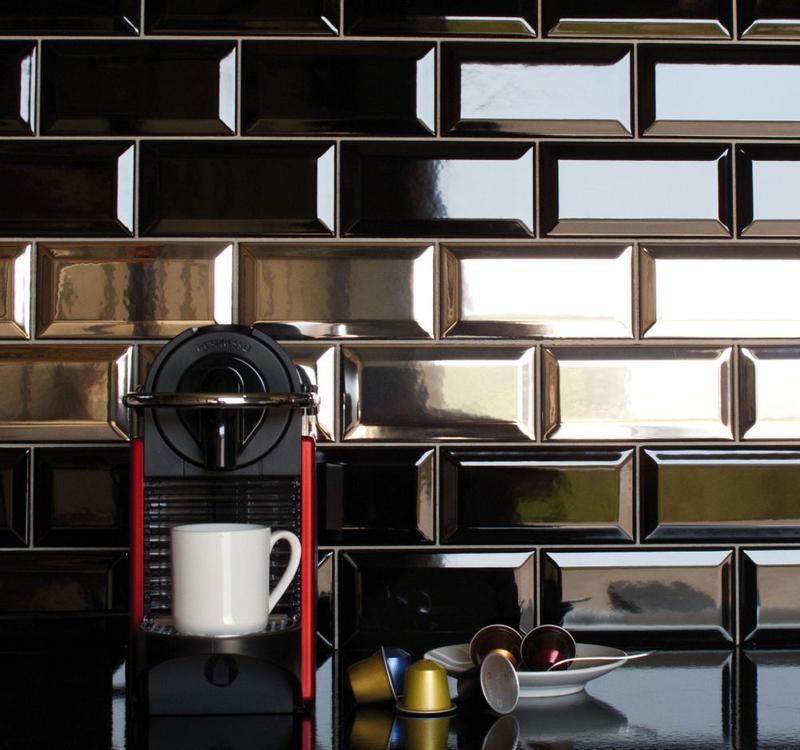 revestimento brilhante na cozinha
