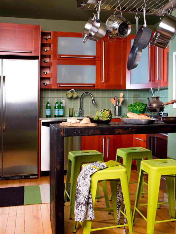 cozinha integrada colorida