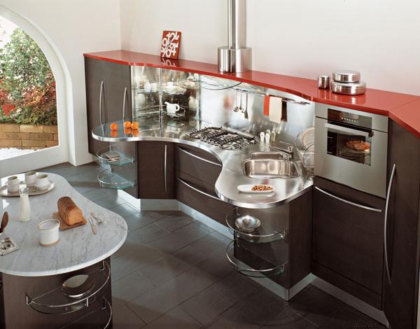 cozinha integrada futurista