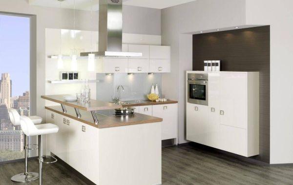 cozinha integrada com vidro
