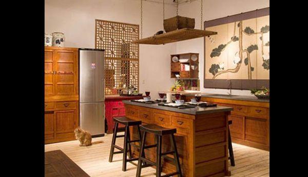 cozinha integrada rústica
