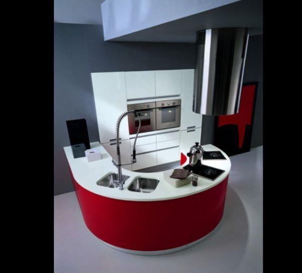 cozinha integrada tricolor