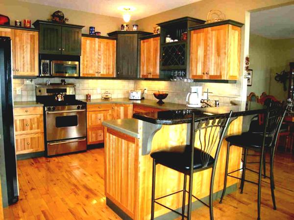 cozinha integrada com luz especial