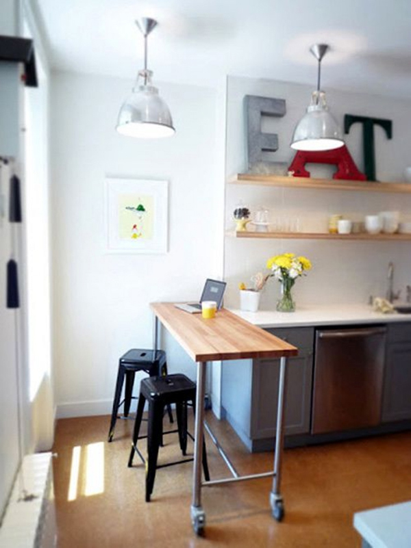 cozinha integrada minúscula